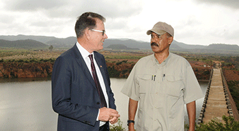 President Isaias with German Minister of Economic Cooperation and Development Gerd Muller at Adi-Halo
