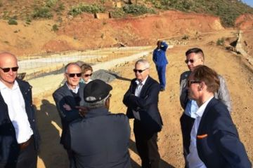 EU Ambassadors examine Eritrean Road Project