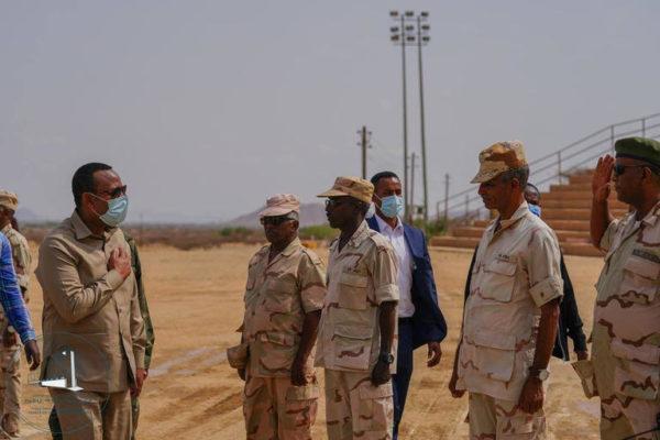 PM Abiy at Sawa military training camp