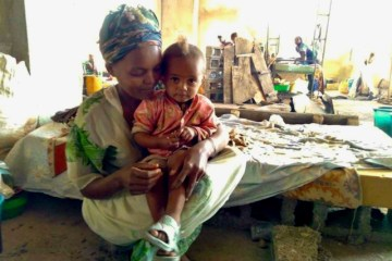 Internally displaced in Sire town