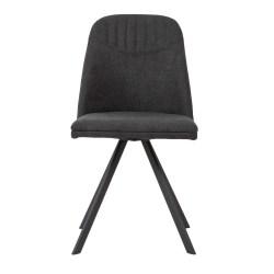 tapizada silla oscuro giratoria tela gris erizho ancho