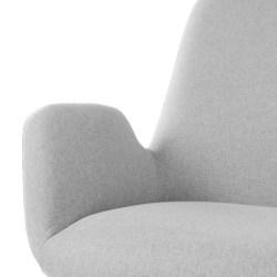 Sillón diseño contemporaneo color gris claro 65x69x84h