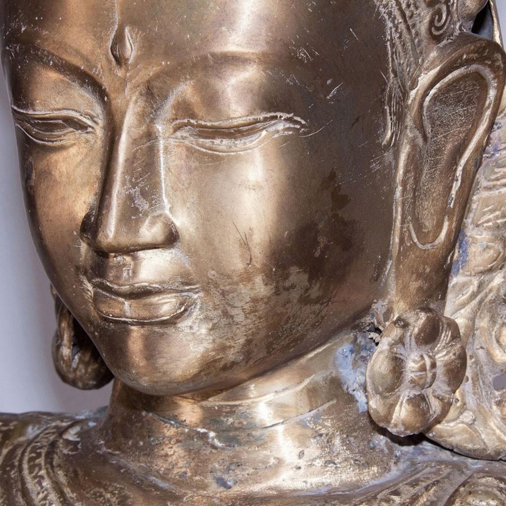 Escultura de bronce diosa oriental 170cm  Erizho