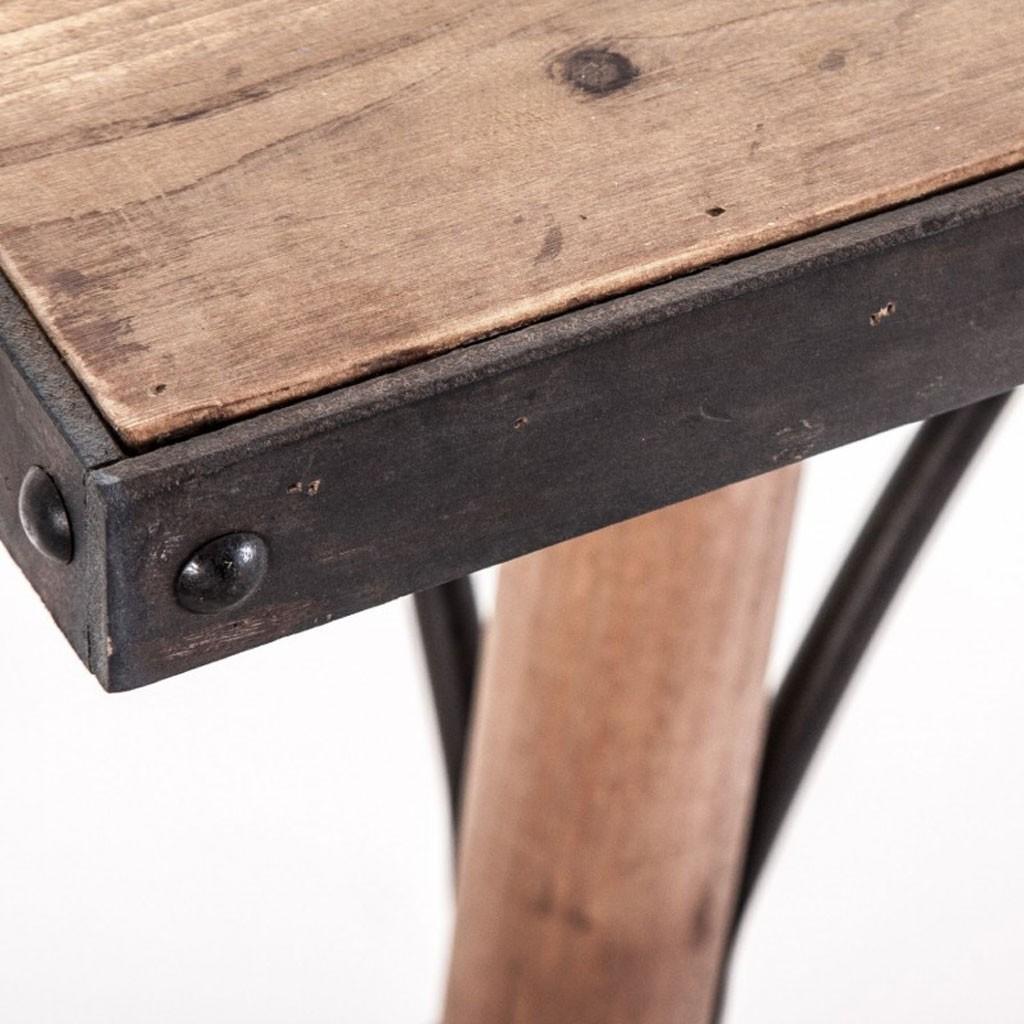 Mesa comedor 200x90cm hierro y madera  Erizho