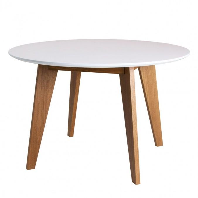 Mesa redonda estilo nrdico de chapa roble  3 tamaos
