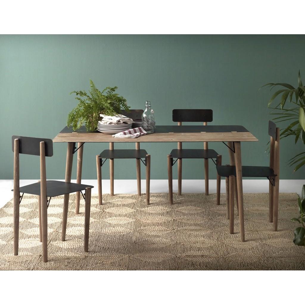Mesa de comedor estilo industrial 150x90x75h en metal  Erizho