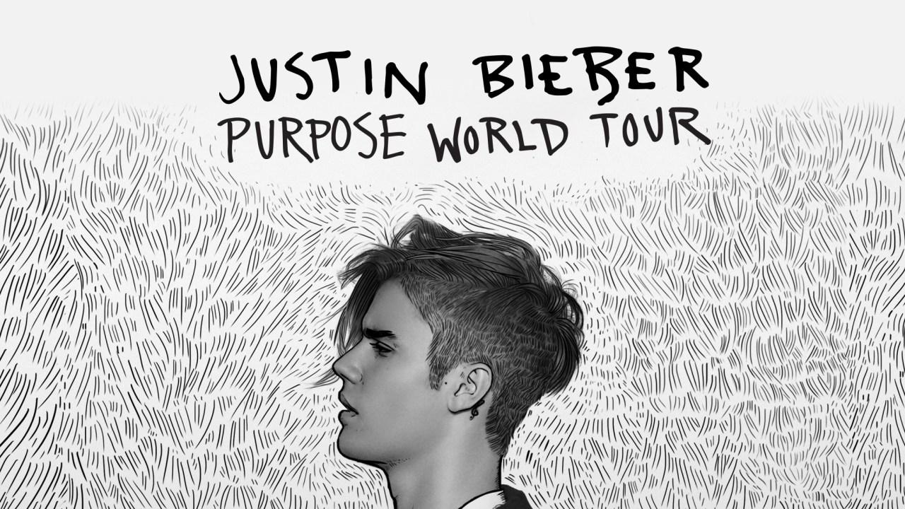 Justin Bieber en el Purpose Tour