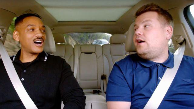 Will Smith y James Corden en el Carpool Karaoke