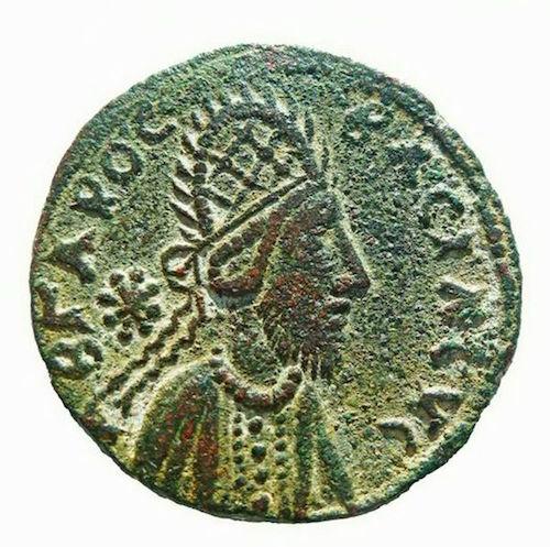 Moneda que sirvió de estudio para el rostro de Jesús