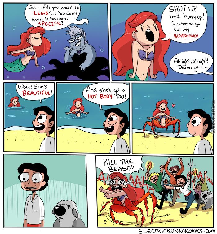 Comics princesas disney La Sirenita