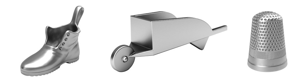 Monopoly Bota Carreta Dedal