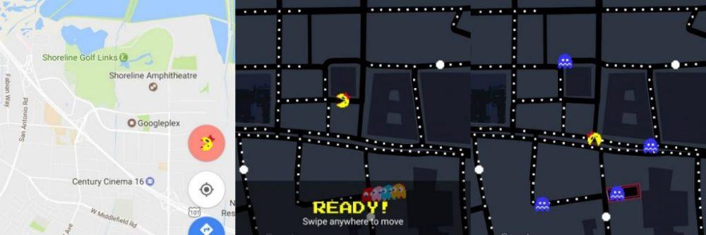 Ms Pac-Man Google Maps app