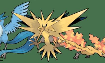 Legendarios Articuno, Zapdos, Moltres Pokémon Go