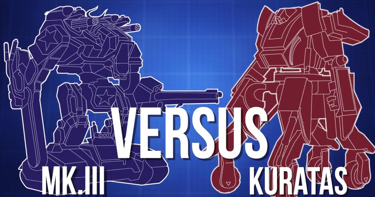 Los robots gigantes MK.III y Kuratas finalmente se enfrentarán en agosto de 2017