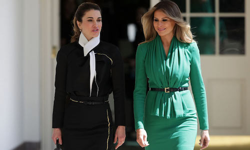 Rania y Melania, esposa de Donald Trump