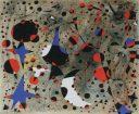 El canto del ruiseñor a medianoche y la lluvia matinal de la serie Constelaciones (1940) de Joan Miró