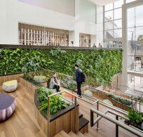 Habitat Horticulture son los responsables de este jardín vertical en Torrance California.