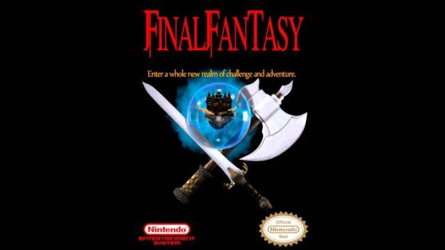 La portada del primer Final Fantasy para NES