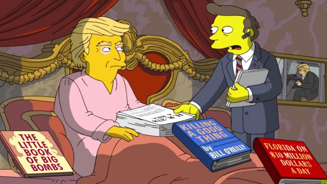 Esto es lo que opinan los Simpsons de los primeros 100 días de gobierno de Trump