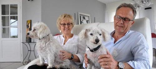 Los padres del perro Topaz