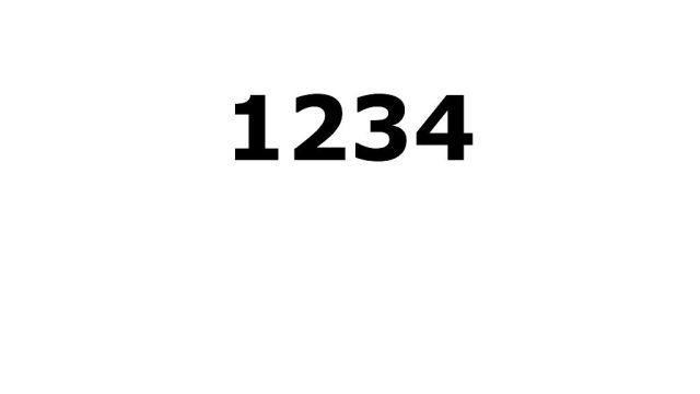 Un buen password no debe de ser algo obvio como 1234