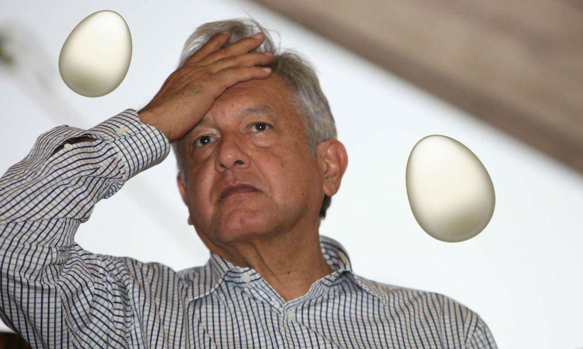 Atacan con huevos a Andrés Manuel Lopez Obrador en Veracruz y acusa a Yunes de estar detrás de la agresión