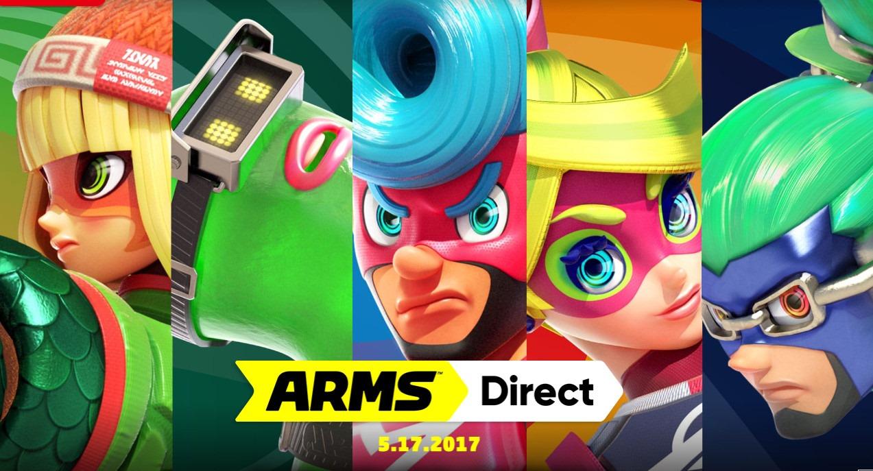 Arms Direct será un Nintendo Direct dedicado al próximo juego de peleas de la Switch
