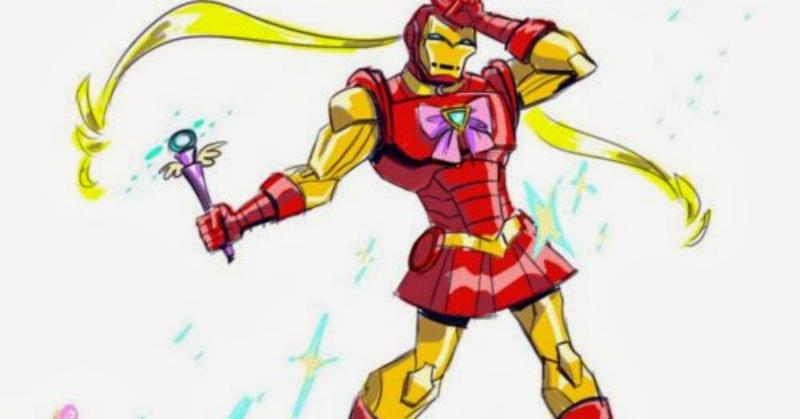 Iron Man te castigará en el nombre del Fierro, al estilo Sailor Moon