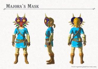 Link usando la máscara de Majora del primer DLC de Breath of the Wild