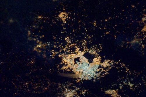 Así de ve la Ciudad de México de noche