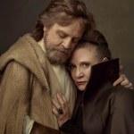 Mark Hamill y Carrie Fisher como Luke Skywalker y la General Organa en Star Wars VIII