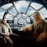 Daisy Ridley y Joonas Suotamo como Rey y Chewbacca en Star Wars VIII