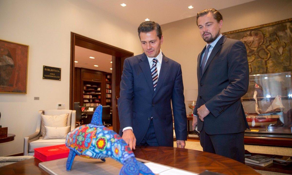 Peña Nieto, Lernardo DiCaprio y Carlos Slim se comprometieron a salvar la vaquita marina