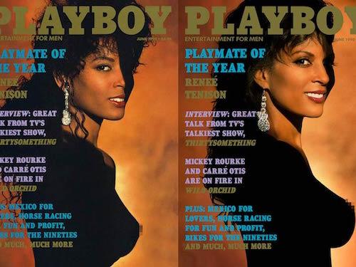 Mujer de color posando para Playboy
