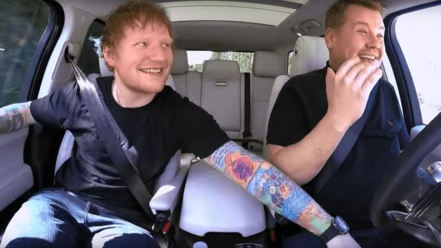 Ed Sheeran revela mañas y talentos en Carpool Karaoke