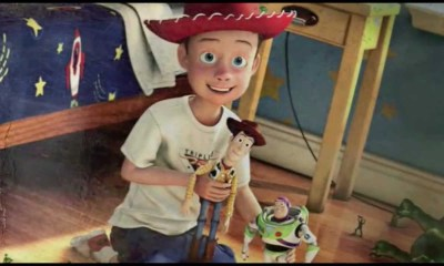 Andy y Woody en Toy Story de Pixar