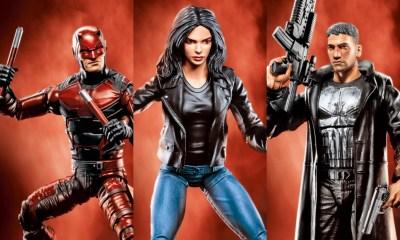 Daredevil, Jessica Jones y The Punisher en la serie de Hasbro, Marvel Knights Legends