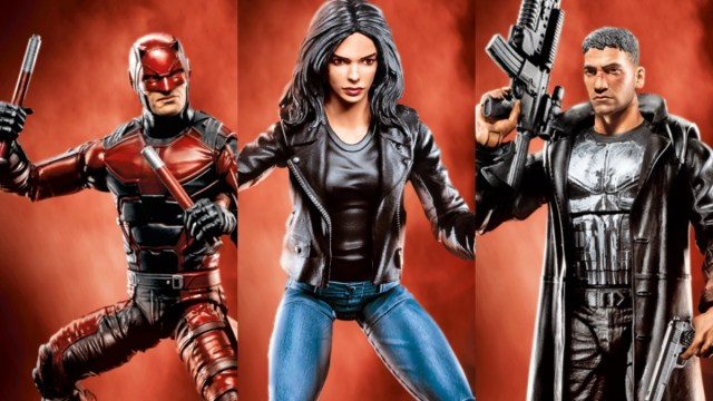 Daredevil, Jessica Jones y The Punisher en la serie de Hasbro, Marvel Knights Legends