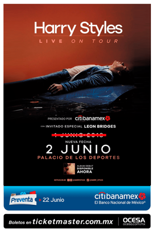 Harry Styles dará dos conciertos en México