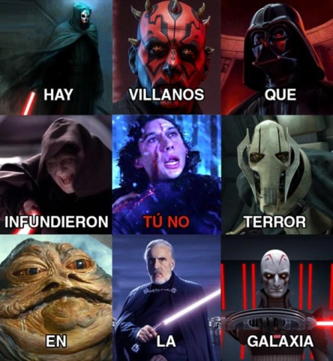 tú no villanos star wars