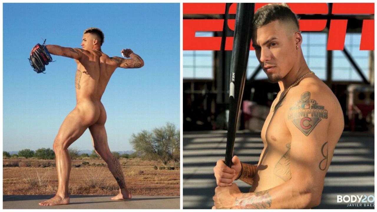 Javier Báez posa desnudo y queremos que llegue con nosotros a tercera base