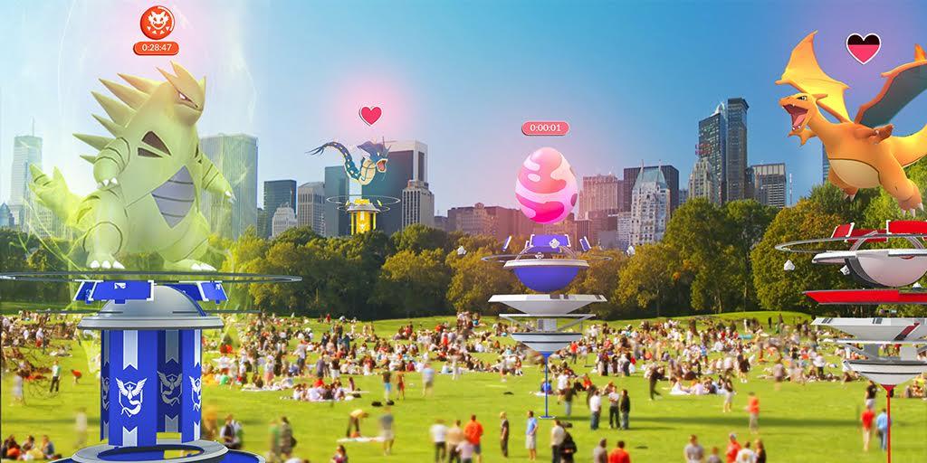 Los gimnasios en Pokémon Go serán actualizados