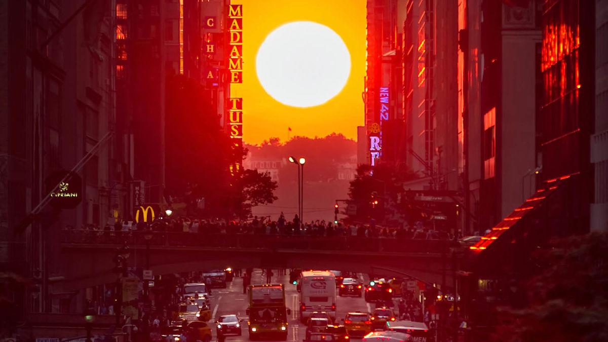 No te pierdas la espectacular puesta del sol en Nueva York, el Manhattanhenge