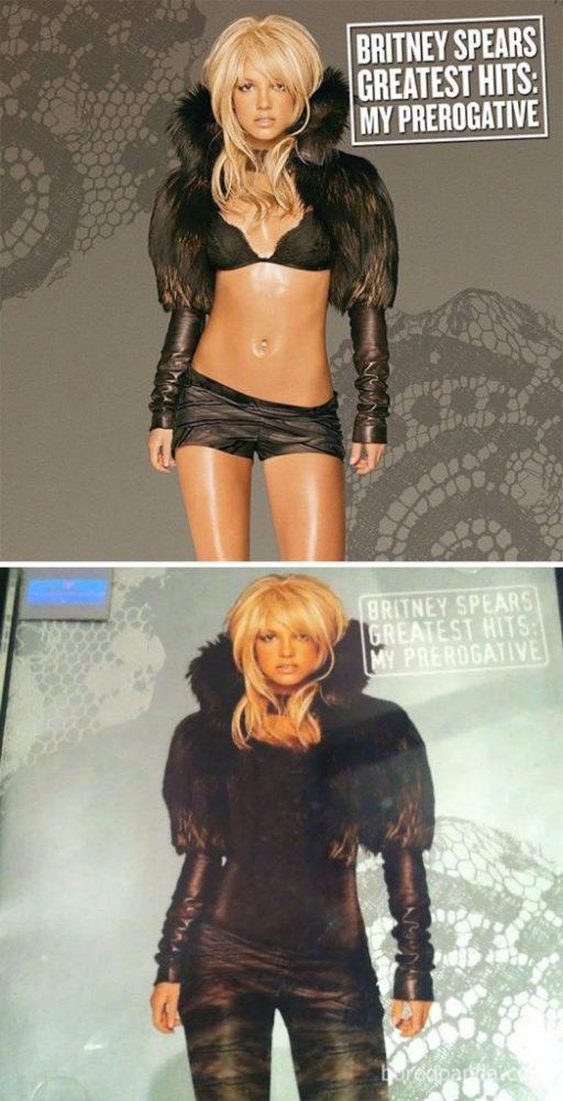 Britney Spears portada censurada medio oriente