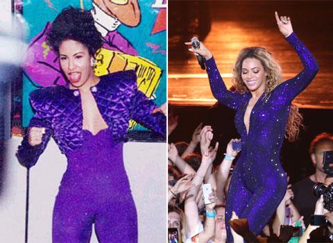 Beyonce copia a Selena Quintanilla
