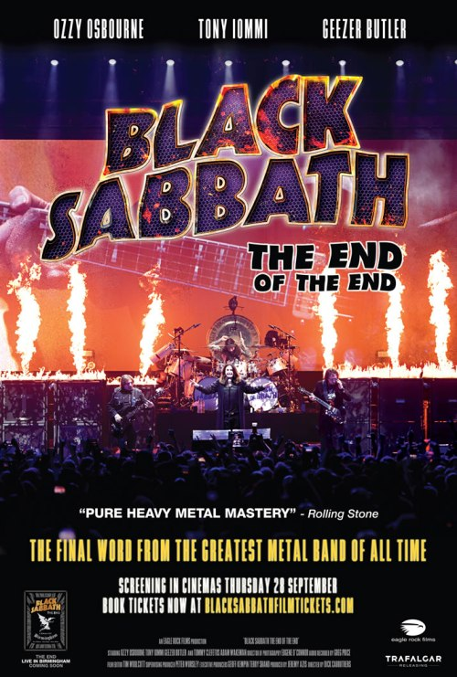 El Documental del adiós de Black Sabbath se estrenará en 150 salas de cine de todo el mundo