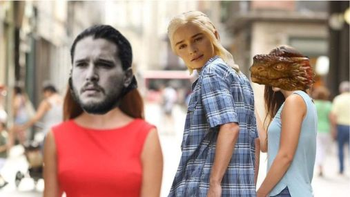 meme novio distraido game of thrones
