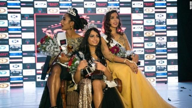 Nitasha Biswas, ganadora de Miss Transqueen India 2017