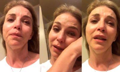 Laura Flores llora por su hija