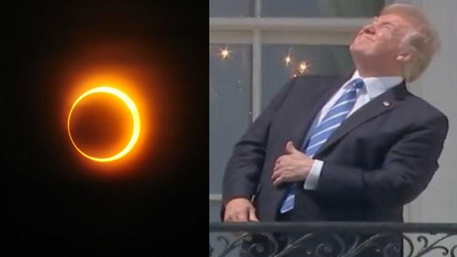 Donald Trump, Estados Unidos, Eclipse, Protección, Presidente, Ojos